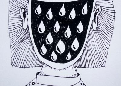 Nicola-Stradiotto-lost-identity-lacrime-serigrafia